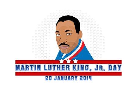 Photo pour Dr Martin Luther King, Jr. 20 Janvier, 2014 - Journée de service - image libre de droit