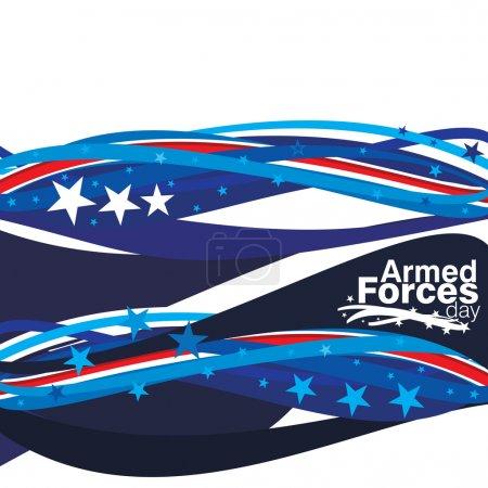 Photo pour Une illustration abstraite de la journée des forces armées - image libre de droit