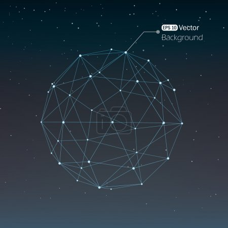 Illustration for Geometrical background with lines - Royalty Free Image