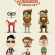 Different type of character illustration...