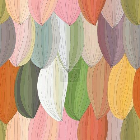 Illustration pour Pétales abstraits avec motif contour. un motif sans couture . - image libre de droit