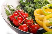 Deska s čerstvou zeleninou