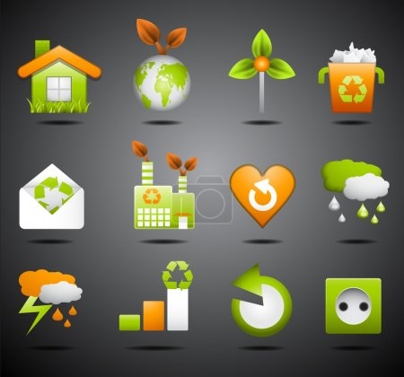 Illustration for Vector set of Eco icons. - Royalty Free Image