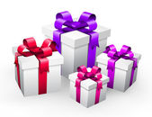 Vector illustration of gifts isolated on white