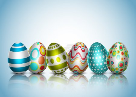 Illustration for Vector illustration of Easter background. EPS10. Contains opacity and transparency. - Royalty Free Image