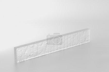 Photo for Acrylic object isolated on white - Royalty Free Image