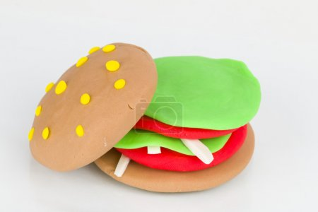 Plasticine  hamburger.