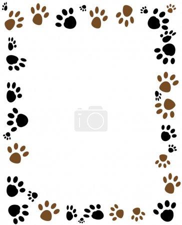 Illustration pour Animaux mignons chiens et chats patte . - image libre de droit