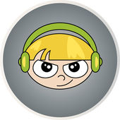 Creative design of  child and disk Fully editable vector