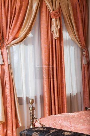 Interior room. curtains. drapes. bedroom