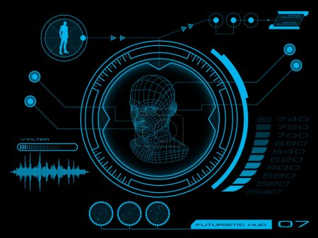 Illustration for Futuristic virtual graphic user interface HUD - Royalty Free Image
