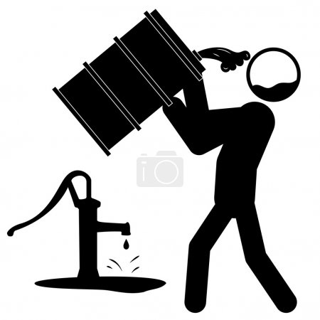 Water contamination icon