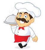 Šéfkuchař hospodářství stříbrné cloche