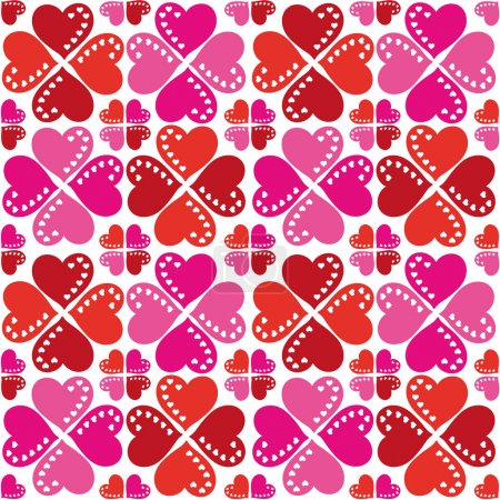 Pattern Of Hearts Seamless Texture