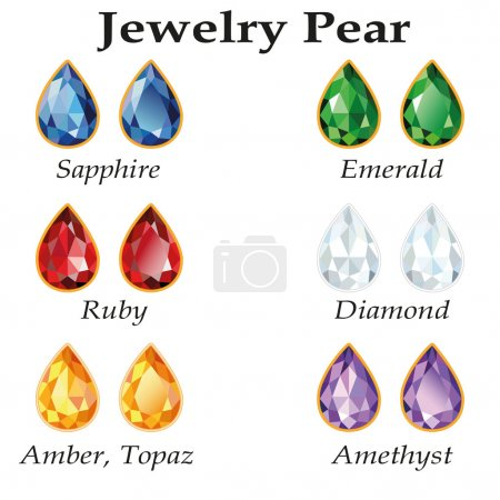 Jewelry Pear. Isolated Objects