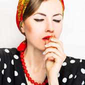 Fashion woman with perfume