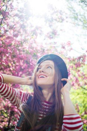 Sunny spring outdoor portrait