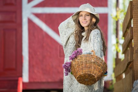 Rural romantic woman