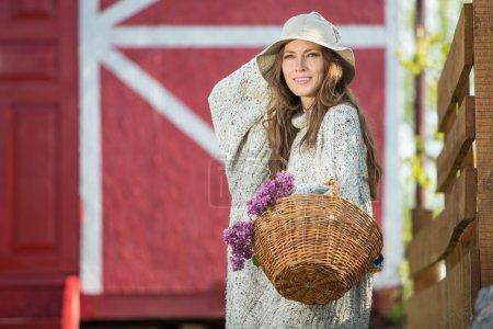 femme romantique rurale
