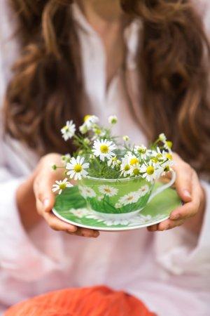 Camomile tea cup