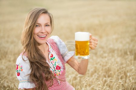 Beautiful girl with beer