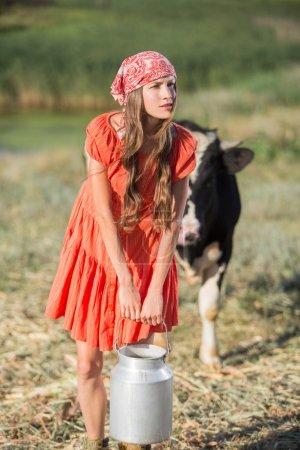 Female farmer on organic farm