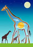 Abstract illustration of a giraffe