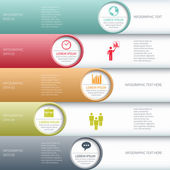 Moderní business infografiky možností nápis