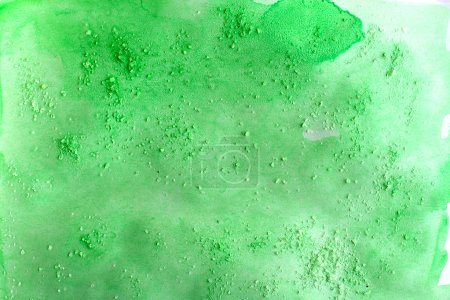Green abstract watercolor macro texture background