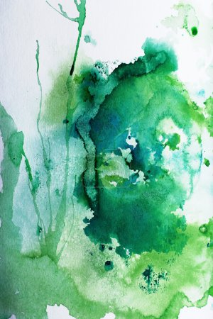 Photo for Watercolor work with the green areas - Royalty Free Image