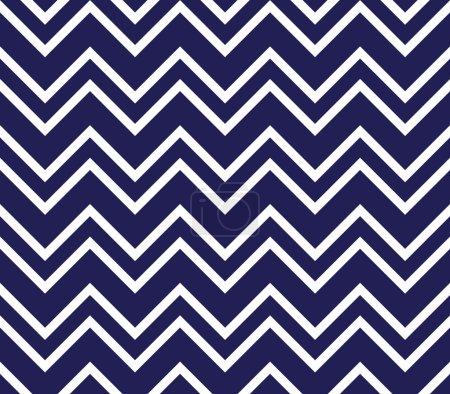 Illustration pour Modèle sans couture en chevron bleu marine et blanc - image libre de droit