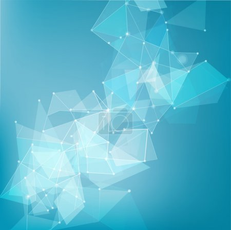 Photo for Abstract mesh network background for technology, business concept, vector illustration - Royalty Free Image