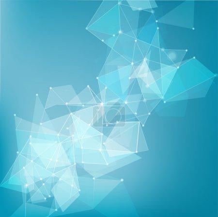 Illustration pour Maillage abstrait fond de réseau pour la technologie, concept d'entreprise, illustration vectorielle - image libre de droit