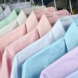 Ironed shirts in dry cleaning...