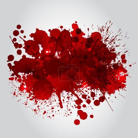 Illustration for Grunge Background With Bright Red Splash. Vector Illustration - Royalty Free Image