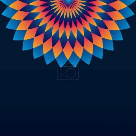 Pattern with circle ornament mandala and rhombus