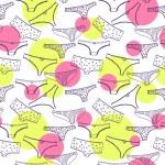 Seamless pink pattern wirh women underclothes viol...