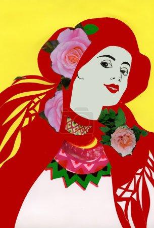 Girl in folk costume