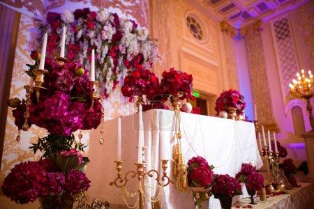 Photo pour Belle décoration le jour du mariage - image libre de droit