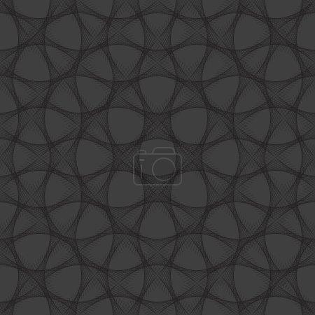Illustration pour Fond noir, lignes entrelacées . - image libre de droit