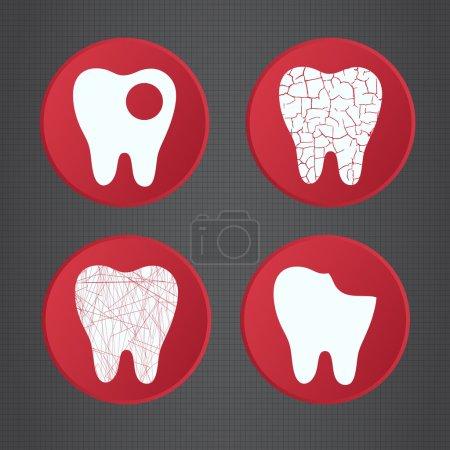 Illustration pour Problèmes dents . - image libre de droit