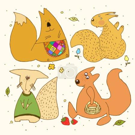 Waldhörnchen, Kinderzeichnungen.