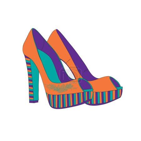 Women's shoes studs.