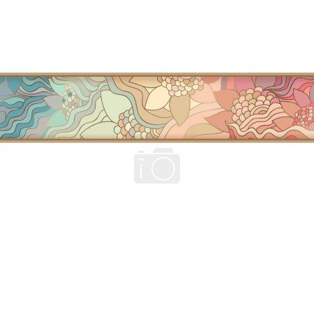 Illustration pour Bande colorée. Modèle de tissage . - image libre de droit