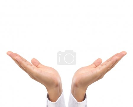 Photo for Open palm a hand gesture - Royalty Free Image