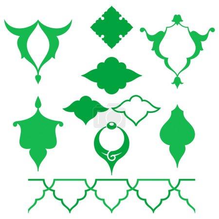 Arabic oriental ornament. Floral pattern motif.