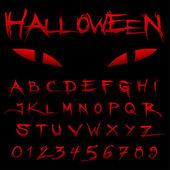 Halloween Blood Alphabet