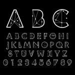 Постер, плакат: Alphabetic fonts and numbers