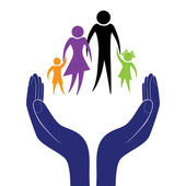 Hand in people encouragement help Vector support moral Life insurance of family Health care Social person