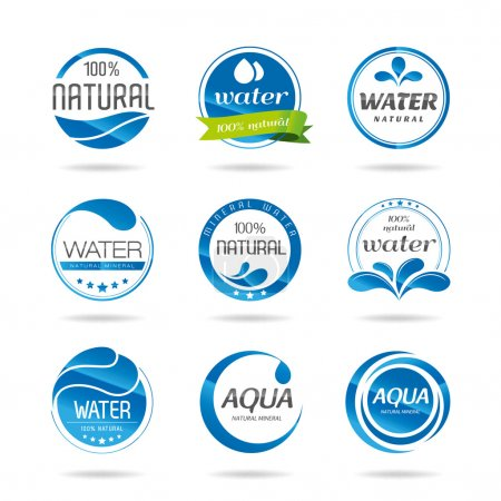 Illustration for Water, water and water products for icon design can be used in studies with - Royalty Free Image